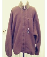 Mens Patagonia Brown Long sleeve Full Zip Fleece Sweater Jacket Size XXL  - $35.52