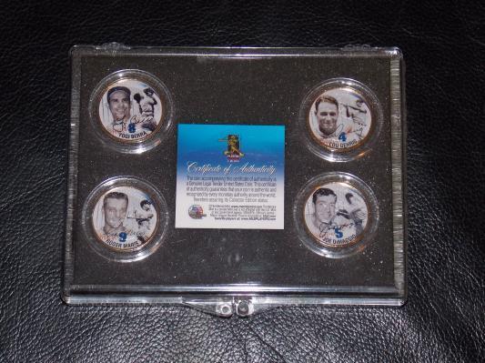 2001 Merrick Mint 24KT Gold Plated Baseball Coins Statehood Quater Collection