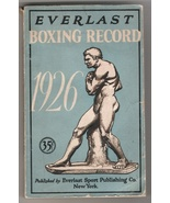 Everlast Boxing Record Book 1926  35 cent book with ring and champion re... - $39.50