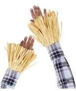 Halloween Scarecrow Costume Accessories 4 Piece Straw Ankle & Wrist Cuff... - $8.71