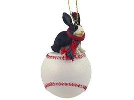 Rabbit Black & White Baseball Ornament - $17.99