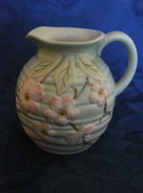 Pottery Jug/Pitcher banded with Dog Rose Design - English Cottage - Rose... - $22.81