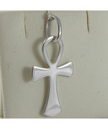 SOLID 18K WHITE GOLD, ANKH CROSS OF LIFE PENDANT, LENGTH 1,1 IN MADE IN ... - £121.81 GBP