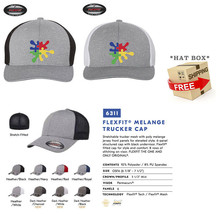 Autism Paint Splash Puzzle Awareness Piece  Trucker Cap FLEXFIT HAT  - $19.99