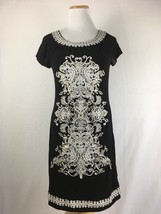 INC International Concepts Women's Black Embroidered Lace Front Dress Si... - $27.98