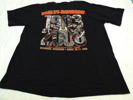 Motorcycle XL Harley Davidson Motorcycles 105 years wings Wisconsin T sh... - $13.75