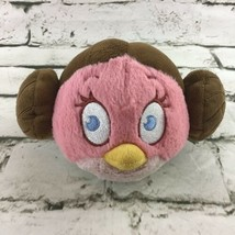 Angry Bird Star Wars Princess Leia Plush Round Stuffed Animal Gamer Soft... - $11.88