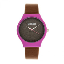 Crayo Glitter Strap Watch - Hot Pink/Brown - £113.26 GBP