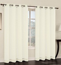 Urbanest 54-inch by 63-inch Faux Linen Sheer Set of 2 Curtain Panels with Gromme - $18.80