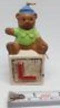 Bear Sitting on L Building Block Christmas Xmas tree holiday Ornament Pr... - $7.49