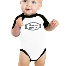 Thank you Dad Baby Raglan Tee First Father Day Gifts 3/4 Sleeve Tee - $15.99