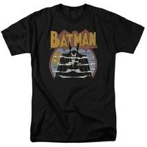 Batman T-shirt 70s comic book art retro 80s cartoon DC black graphic tee DCO645 image 2
