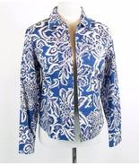 COLDWATER CREEK Size Petite S Blue White Cotton Jacket - $19.99