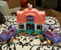 Fisher Price Little People House, Cars, People, And Color and Shape Shop... - $42.57