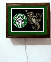 Starbucks Coffee Shop Seattle Collectible Mermaid Barista Light Lighted Sign - $52.80