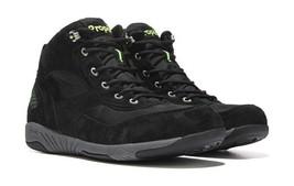 Propet Mens Mack Rejuve Black Leather Hiking Walking Shoes Boots Sneaker... - $79.99