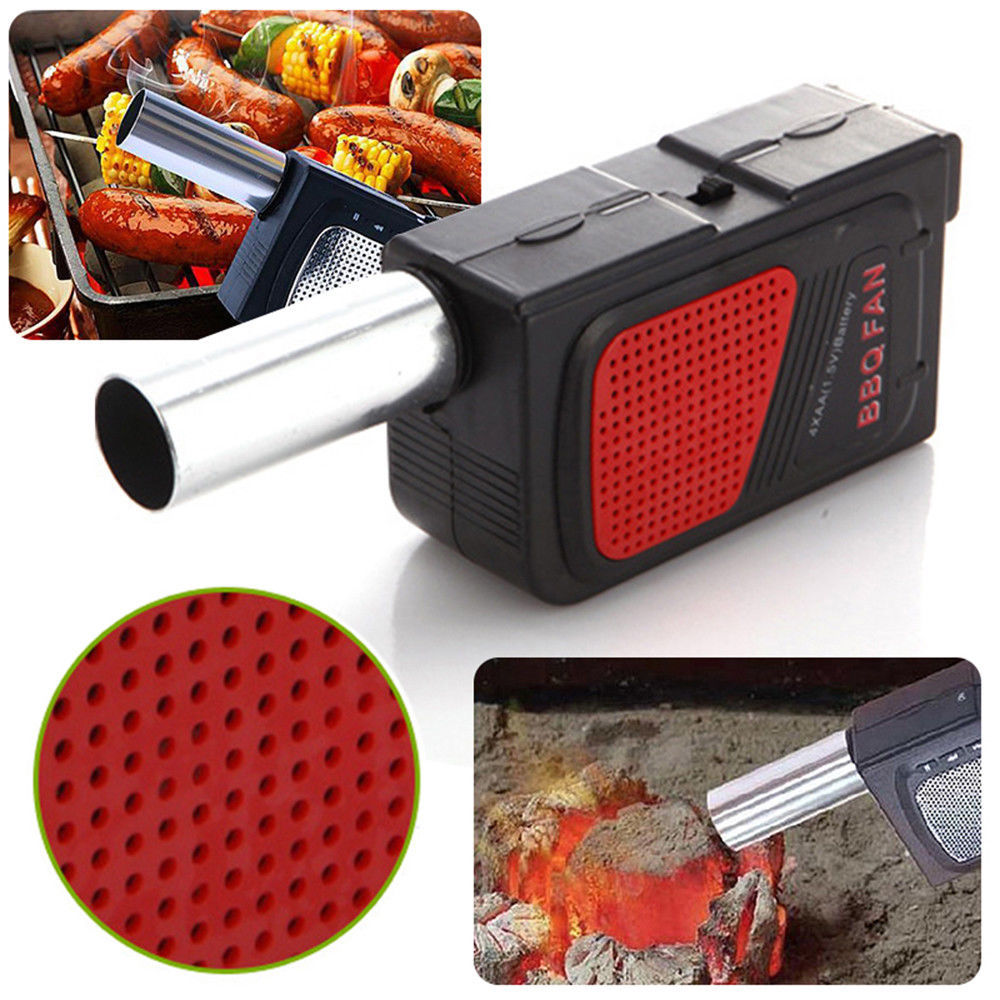 Electricity BBQ Fan Air Blower Ventilator Bellow for Barbecue Camping Toll New
