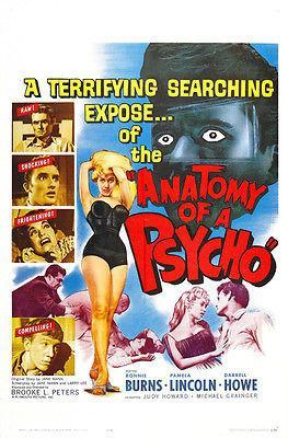 Primary image for Anatomy of a Psycho - 1961 - Movie Poster