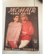 Vtg MOHAIR HAND KNITS 1962 Booklet Sweater Patterns Pullover Cardigan Be... - $29.69
