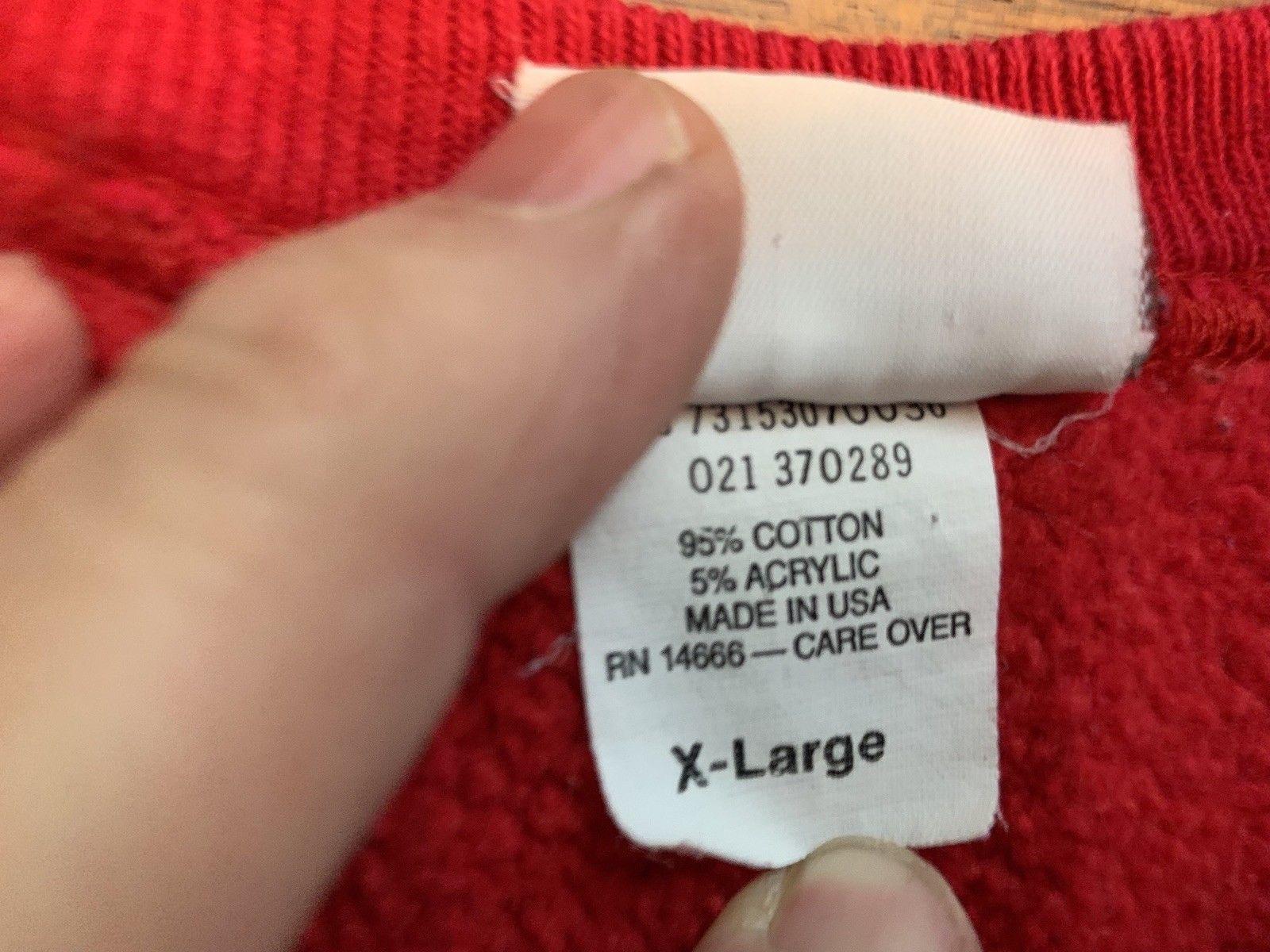 VTG Cross Grain Reverse Weave sweatshirt SIGMA PI crew-neck size XL Mint Red