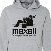 Maxell speakers Hoodie Logo retro 1980's Blown Away Man car audio graphic tee image 2