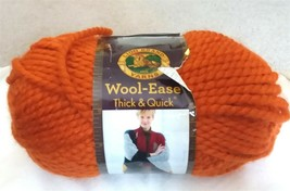 1 Skein Yarn Lion Brand Wool-Ease 133 Pumpkin - $10.19
