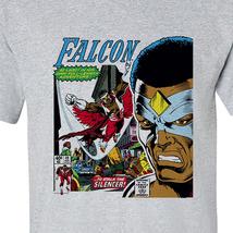 The Falcon 1st Cover T-shirt retro 1970's marvel comics silver age heather grey image 2
