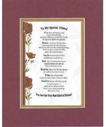 Touching and Heartfelt Poem for Special Friends - To My Special Friend P... - $15.79