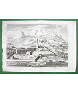 HOLY LAND Perspective View of Nazareth - SCARCE Antique Print Copperplate - $8.44