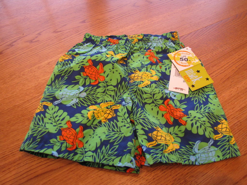 Primary image for Toddler NEW Mick and Mack LTD boys swim trunks board shorts 2 T UPF 50+