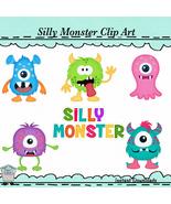 Silly Monster Clip Art  - $1.35