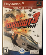 Burnout 3: Takedown (Sony PlayStation 2, 2004) Complete & TESTED - $18.00