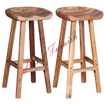 Acasia Solid Wood Tractor Seat Bar Stool Chair Kitchen & Dining Room Fur... - $188.10