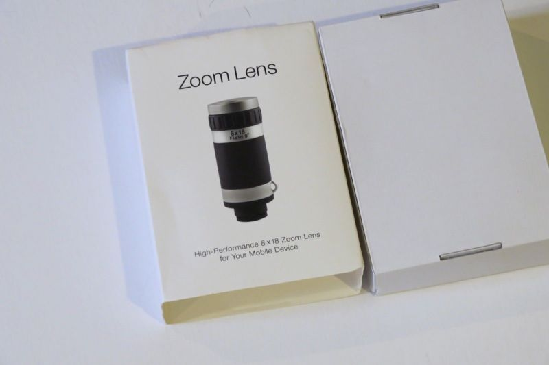 HyperZoomHD™ camera lens - 8x18 zoom, portable smartphone sharp lens, new