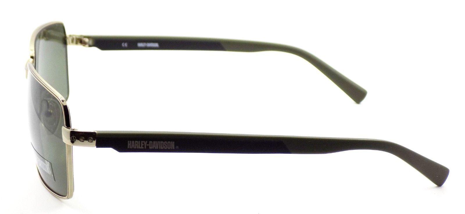 Harley Davidson HDX869 GLD Men's Sunglasses Gold 61-16-135 Gray + CASE