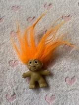 Vintage 1989 DAM Troll Pencil Topper Orange  Hair Vintage - $24.75
