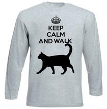 CAT 2 - KEEP CALM AND WALK - NEW COTTON GREY TSHIRT - $20.84