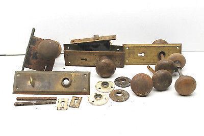 Antique Door Knob Knobs Locks Plates Restoration Hardware Metal+Brass Parts  USA - Architectural & - Antique Door Lock Parts Antique Furniture