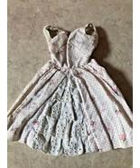 VINTAGE Barbie 1962 Garden Party #931 Cotton Dress w/eyelet inset missin... - $13.55