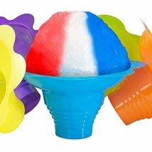 Super Cute Flower Cups 100 Pack. Colorful, Leak Proof Small Bowls Are Pe... - £22.06 GBP