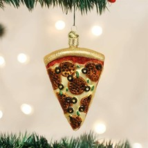 Old World Christmas Pizza Slice Glass Christmas Ornament 32047 - $10.88