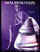 Parfum de Mauboussin AD Body Art Bottle Art 2000 French Text Perfume Adv... - $14.99