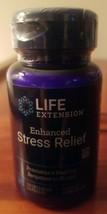 Life Extension Enhanced Stress Relief 30 Vegetarian Capsules Non GMO 10/21 - $22.99