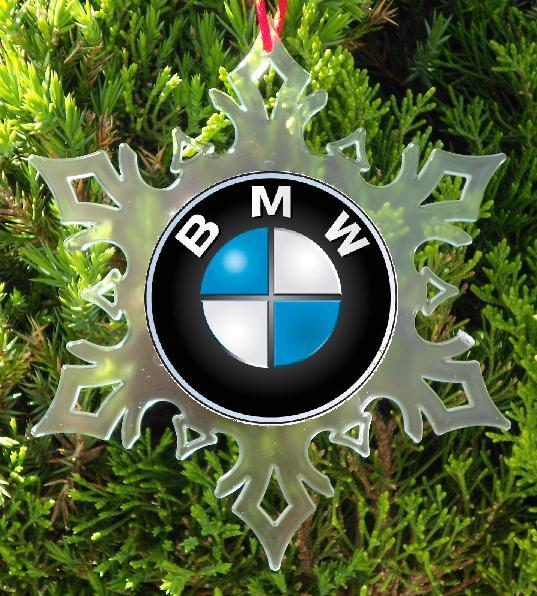 BMW CAR  CHRISTMAS ORNAMENT -  SNOWFLAKE XMAS ORNAMENT
