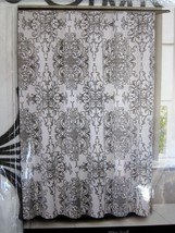 TAHARI Home COTTON Blend GRAY MEDALLION Fabric Shower Curtain NEW - $25.73