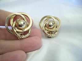 BERGERE Gold Plated Textured SWIRL Twist Clip Earrings Designer Vintage ... - $14.80