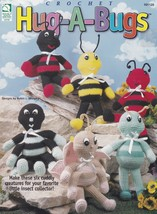 Hug-A-Bugs, Crochet Cuddly Creatures Pattern HWB 101120 Butterfly Cricket & More - $6.95