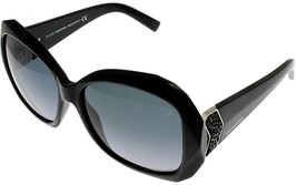 Swarovski Sunglasses Black Women CAPRI SW 34 01B Oversized - $137.61