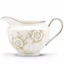 Lenox White Creamer Floral Design Platinum Blush Silhouette Porcelain NEW - $33.00
