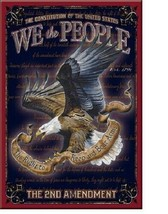 New We The People The Second Amendment Decorative Metal Refrigerator Magnet - $3.47